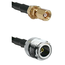 SMC Female Bulkhead on RG400 to N Female Cable Assembly