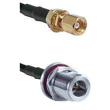SMC Female Bulkhead on RG400 to N Reverse Polarity Female Bulkhead Cable Assembly