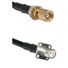 SMC Female Bulkhead on RG58C/U to BNC 4 Hole Female Cable Assembly