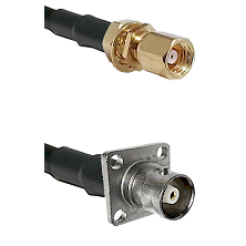 SMC Female Bulkhead on RG58C/U to C 4 Hole Female Cable Assembly