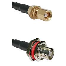 SMC Female Bulkhead on RG58C/U to C Female Bulkhead Cable Assembly