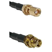 SMC Female Bulkhead on RG58C/U to MCX Female Bulkhead Cable Assembly