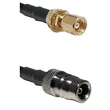SMC Female Bulkhead on RG58C/U to QN Female Cable Assembly
