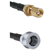 SMC Female Bulkhead on RG58C/U to QN Male Cable Assembly