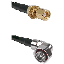 SMC Female Bulkhead on RG58C/U to 7/16 Din Right Angle Male Cable Assembly