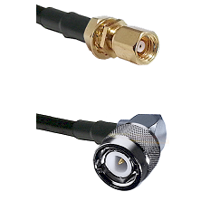 SMC Female Bulkhead on RG58C/U to C Right Angle Male Cable Assembly