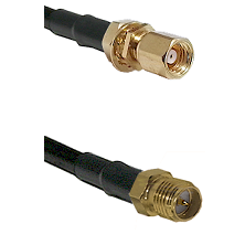 SMC Female Bulkhead on RG58C/U to SMA Reverse Polarity Female Cable Assembly