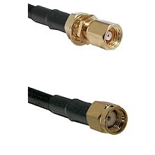 SMC Female Bulkhead on RG58C/U to SMA Reverse Polarity Male Cable Assembly