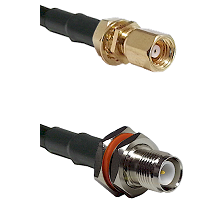 SMC Female Bulkhead on RG58 to TNC Reverse Polarity Female Bulkhead Cable Assembly