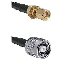 SMC Female Bulkhead on RG58C/U to TNC Reverse Polarity Male Cable Assembly
