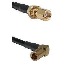 SMC Female Bulkhead on RG58C/U to SLB Right Angle Female Cable Assembly
