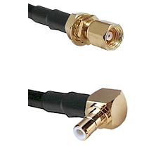 SMC Female Bulkhead on RG58C/U to SMB Right Angle Male Cable Assembly
