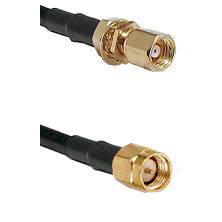 SMC Female Bulkhead on RG58C/U to SMA Reverse Thread Male Cable Assembly