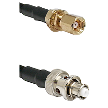 SMC Female Bulkhead on RG58C/U to SHV Plug Cable Assembly