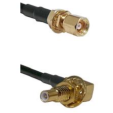 SMC Female Bulkhead on RG58C/U to SLB Male Bulkhead Cable Assembly
