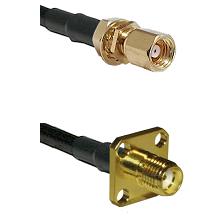 SMC Female Bulkhead on RG58C/U to SMA 4 Hole Female Cable Assembly