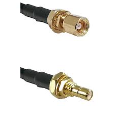 SMC Female Bulkhead on RG58C/U to SMB Male Bulkhead Cable Assembly