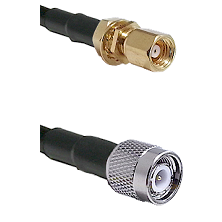 SMC Female Bulkhead on RG58C/U to TNC Male Cable Assembly