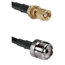 SMC Female Bulkhead on RG58C/U to UHF Female Cable Assembly