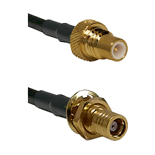 SMC Plug To SMC Bulkhead Jack Connectors RG58C/U Cable Assembly