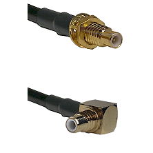 SMC Male Bulkhead on Belden 83242 RG142 to SMC Right Angle Male Cable Assembly