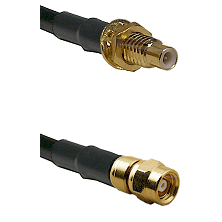 SMC Male Bulkhead on Belden 83242 RG142 to SMC Female Cable Assembly