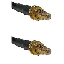 SMC Male Bulkhead on Belden 83242 RG142 to SMC Male Bulkhead Cable Assembly