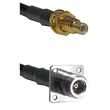 SMC Male Bulkhead on LMR100 to N 4 Hole Female Cable Assembly