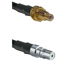 SMC Male Bulkhead on LMR100 to QMA Female Cable Assembly