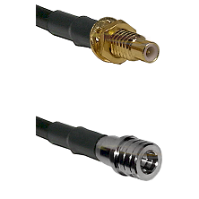 SMC Male Bulkhead on LMR100 to QMA Male Cable Assembly