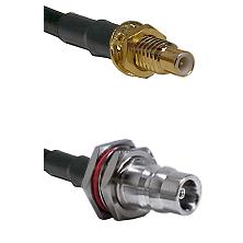 SMC Male Bulkhead on LMR100 to QN Female Bulkhead Cable Assembly