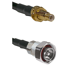 SMC Male Bulkhead on LMR-195-UF UltraFlex to 7/16 Din Male Cable Assembly