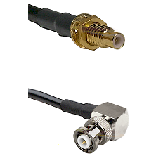 SMC Male Bulkhead on LMR-195-UF UltraFlex to MHV Right Angle Male Cable Assembly