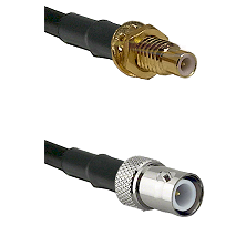 SMC Male Bulkhead on LMR-195-UF UltraFlex to BNC Reverse Polarity Female Cable Assembly