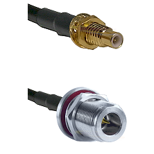 SMC Male Bulkhead on LMR-195-UF UltraFlex to N Reverse Polarity Female Bulkhead Coaxial Cable Assemb