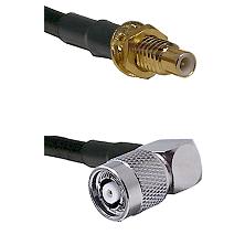 SMC Male Bulkhead on LMR-195-UF UltraFlex to TNC Reverse Polarity Right Angle Male Coaxial Cable Ass