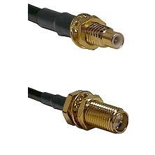 SMC Male Bulkhead on LMR-195-UF UltraFlex to SMA Reverse Polarity Female Bulkhead Coaxial Cable Asse