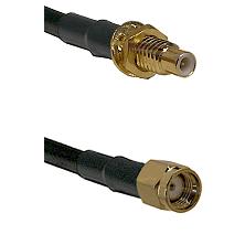 SMC Male Bulkhead on LMR-195-UF UltraFlex to SMA Reverse Polarity Male Cable Assembly