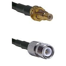 SMC Male Bulkhead on LMR-195-UF UltraFlex to TNC Reverse Polarity Female Cable Assembly