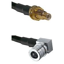 SMC Male Bulkhead on LMR-195-UF UltraFlex to QMA Right Angle Male Cable Assembly