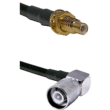 SMC Male Bulkhead on LMR-195-UF UltraFlex to SC Right Angle Male Cable Assembly