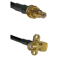 SMC Male Bulkhead on LMR-195-UF UltraFlex to SMA 2 Hole Right Angle Female Cable Assembly