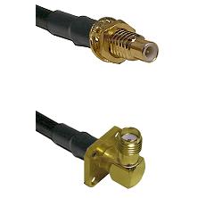 SMC Male Bulkhead on LMR-195-UF UltraFlex to SMA 4 Hole Right Angle Female Cable Assembly