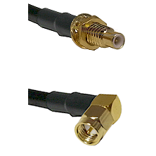 SMC Male Bulkhead on LMR-195-UF UltraFlex to SMA Right Angle Male Cable Assembly