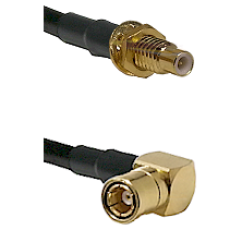 SMC Male Bulkhead on LMR-195-UF UltraFlex to SMB Right Angle Female Cable Assembly