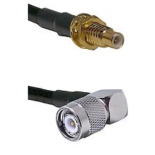 SMC Male Bulkhead on LMR-195-UF UltraFlex to TNC Right Angle Male Cable Assembly