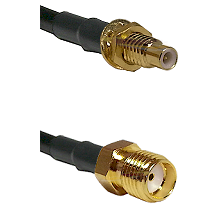 SMC Male Bulkhead on LMR-195-UF UltraFlex to SMA Reverse Thread Female Cable Assembly