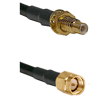 SMC Male Bulkhead on LMR-195-UF UltraFlex to SMA Reverse Thread Male Cable Assembly
