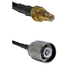 SMC Male Bulkhead on LMR-195-UF UltraFlex to SC Male Cable Assembly
