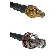 SMC Male Bulkhead on LMR-195-UF UltraFlex to SHV Bulkhead Jack Cable Assembly
